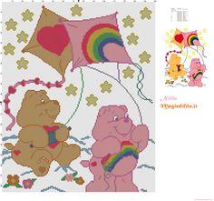 Care Bears with kites