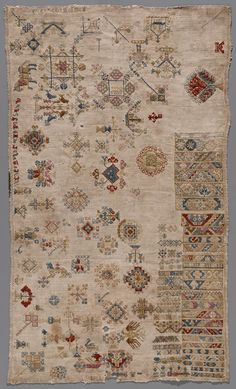 A beautiful, true sampler - love it....... Merklap uit Marken