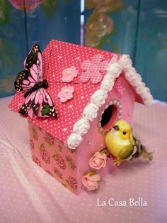 Super lief vogelhuisje tijdens de kinderfeestjes vogelhuisje pimpen