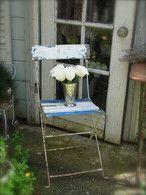 Bleu et Blanc Bistro Chair TREASURY ITEM