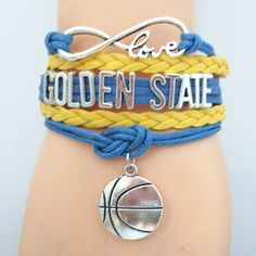 Infinity Love Golden State Basketball Bracelet BOGO