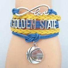 Infinity Love Golden State Basketball Bracelet BOGO