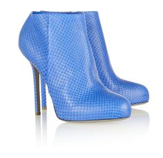 Sergio Rossi Snake-Effect Leather Ankle Boots
