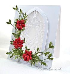 Beautiful poinsettia card