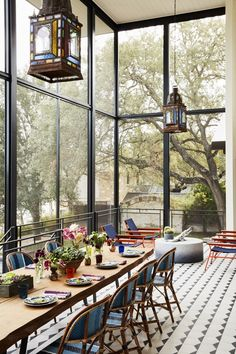 Tour Jensen and Danneel Ackles's Austin Home - Architectural Digest Architectural Digest, Screened Porch Designs, Screened In Porch, Austin Homes, Austin Tx, Ranch Style, Home Photo, Dining Room Design, Architecture