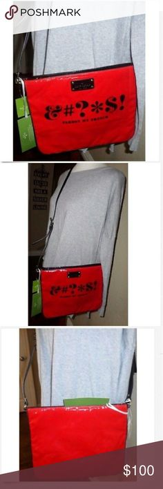 NWT Kate Spade Pardon My French Crossbody Bag NWT Kate Spade Pardon My French Darby Tech Library Way Satchel / Cross Body Great NWT red patent leather cross body bag Has a small darker red spot. Not very noticeable. Nice gift idea Htf style kate spade Bags Crossbody Bags
