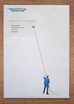 window cleaner envelopes by Henk Oortwijn.