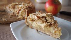 Leckerer saftiger Apfelkuchen mit selbstgemachtem Vanillepudding und Haferflockenstreuseln - dazu mit wertvollen Inhaltstoffen und ohne raffinierten Zucker.