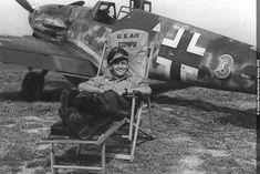 """Bf 109 G-6 W.Nr. 15 912 """"Grüne 3"""", Lt. Günther Weiroster, JG. 50, Wiesbaden Erbenheim, Summer 1943."""