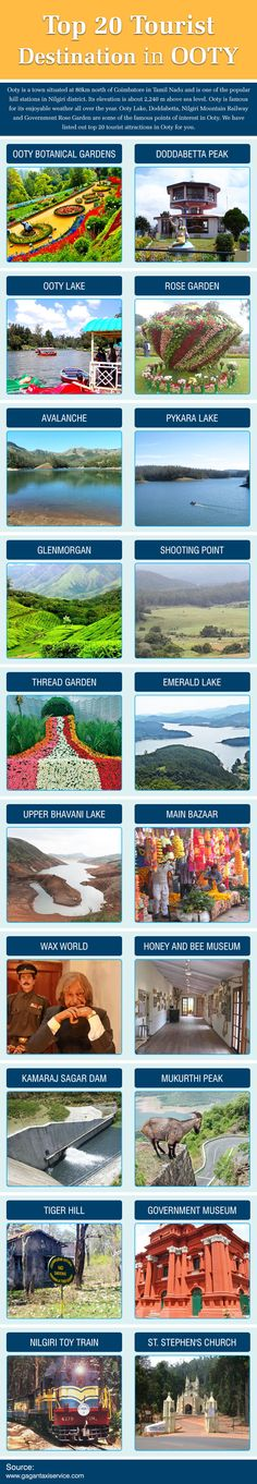 Do you know the famous tourist destinations in #Ooty ? Have a look: http://visual.ly/famous-tourist-destinations-ooty