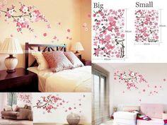 DIY Removable Art Vinyl Sakura Flower Tree Wall Stickers Decals Mural Room Decor