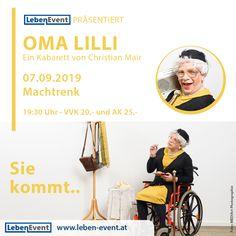 Diesen Samstag live die Oma Lilli erleben.
