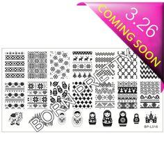 $3.99 Russian Doll Sweater Pattern Nail Art Stamp Template Image Plate BORN PRETTY BP-L018 12.5 x 6.5cm - BornPrettyStore.com