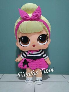 Piñata LOL Sis Swing #piñatasTipoi, #lol 6th Birthday Cakes, 6th Birthday Parties, Diy Birthday, Lol Doll Cake, Doll Shoe Patterns, Doll Party, Barbie, Birthday Backdrop, Paper Piecing Patterns