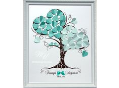 Wedding Guest Book Ideas  Mint Wedding Tree  by WeddingUkraine