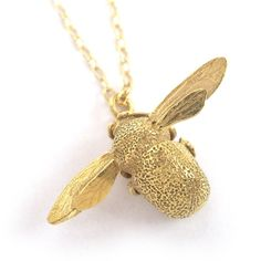 Alex Monroe Bumblebee Necklace | Gold Plated