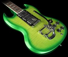 Gibson SG Deluxe Electric Guitar Lime Burst