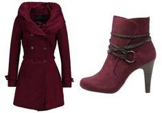 Only New Lisa Abrigo Clasico Windsor Wine abrigos y chaquetas Wine Windsor Only New lisa clásico Abrigo Noe.Moda