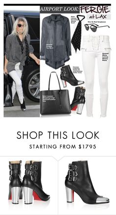 """FERGIE"" by swweetalexutza ❤ liked on Polyvore featuring Christian Louboutin, Yves Saint Laurent, airportstyle and fergie"