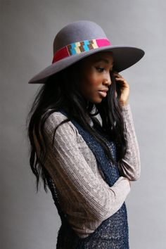 Pink & Grey Kente Hat - Indego Africa