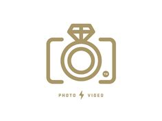 Clever combination of Wedding and Photo/Video in one icon. #logo #design - designed by Nick Brue