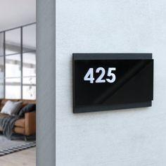 Door Number Sign, House Number Plaque, Door Numbers, House Numbers, Door Signs, Custom Business Signs, Stock Background, Apartment Door, Sign Materials