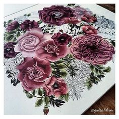@gulsahkrm 's work in progress... Amazing ⭐️⭐️⭐️ from Floribunda #talented #special #loveit