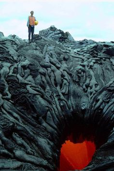 "Lava formation & ""The Gate of Hell"" by Auguste Rodin"