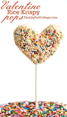 Valentine Treats - Rice Krispy Pops - The Lilypad Cottage