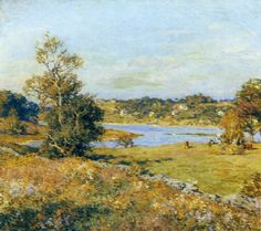 willard leroy metcalf the breath of autumn waterford connecticut paintings