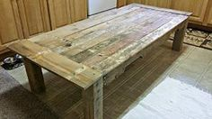 Preview Rustic Handmade Reclaimed Pallet Wood Coffee Occasional Table by Escapetive