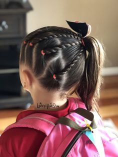 Twists & Side ponytails for victory Toddler Hairstyles Girl ponytails Side Twists victory Easy Toddler Hairstyles, Easy Little Girl Hairstyles, Girls Hairdos, Cute Little Girl Hairstyles, Baby Girl Hairstyles, Kids Braided Hairstyles, Weave Hairstyles, Toddler Hair Dos, Hairstyle Short