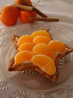 Sternen-Tarteletts mit Mascarpone-Zimtcreme und Mandarinchen