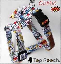 Pow! Bang!!! Wow!! Look at this Top Pooch harness now available on toppooch.com #dogharness #superhero #toppooch