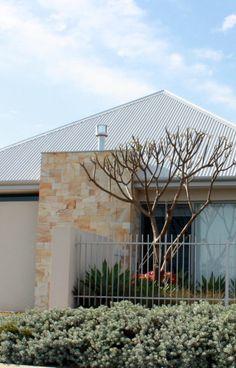 Contemporary Sandstone chimney feature. Contemporary, Building, Plants, House, Ideas, Design, Home, Buildings