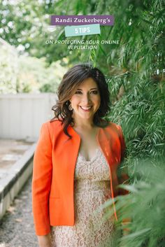 5 Tips On Protecting Your Online Reputation with Randi Zuckerberg  Read more - http://www.stylemepretty.com/living/2013/11/05/5-tips-on-protecting-your-online-reputation-with-randi-zuckerberg/