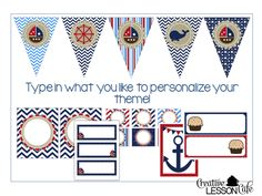 Nautical Classroom Decor Set and Labeling Kit and a Giveaway