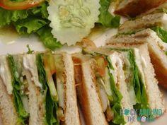 Chicken-Sandwich vom Sinouk Coffee Resort in Pakxong (Nähe Paksé), Laos