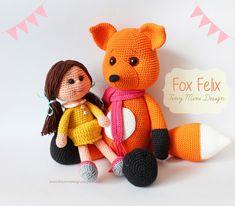 Amigurumi Tilki Felix-Amigurumi Fox Felix