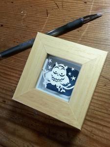 Image of 'Little Owl' Tiny Miniature Original Papercut