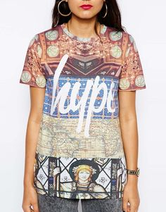 Hype T-Shirt With Regal Patch Print from #ASOS