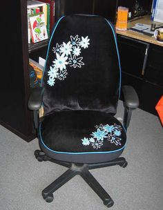 Make Your Office Chair Unique Pretty By Using A Car Seat Cover