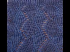 Ажурный узор машинного вязания №62