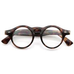 f783bcdbc1 Vintage Frame Round Professor Clear Lens Eye Glasses 8607
