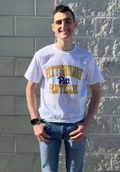Champion Pitt Panthers White Number One Short Sleeve T Shirt - 14753954 Pitt Panthers, Pittsburgh Penguins, Number One, Short Sleeve Tee, Champion, Tees, People, T Shirt, Supreme T Shirt