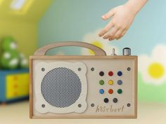 portable mp3-player made of wood! for kids, not only...