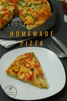 Homemade Pizza takes very less time to prepare at home with your favourite toppings. My kids enjoy a lot while making this pizza especially when they are Homemade Pizza Ingredients, Making Homemade Pizza, Pizza Recipes, Dinner Recipes, Cooking Recipes, Quick Recipes, Delicious Recipes, Bread Recipes, Dinner Ideas