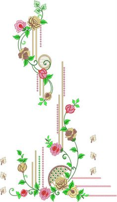 Embroidery On Kurtis, Hand Embroidery Dress, Kurti Embroidery Design, Embroidery Designs Online, Couture Embroidery, Embroidery Patterns, Clothing Store Displays, Fancy Kurti, Ornaments Design