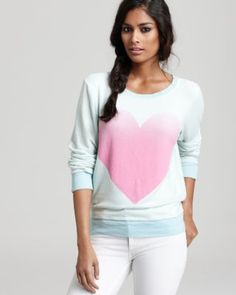 heart sweatshirt from wildfox couture... love these colors together - #womensfashion, #clothing, #women