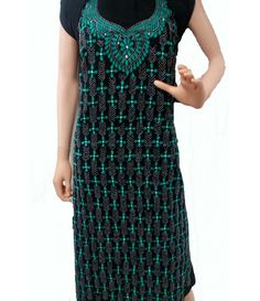 Kantha Work Cotton Kurti----This hand embroidered kantha work Cotton Kurti is a manifestation of creativity beyond imagination. This hand embroidered kantha work Cotton kurti is unique in itself. This kurti is a must have in your wardrobe. It is an unstitched piece from luxurionworld.com